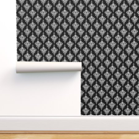 Minions Halloween Wallpaper (Removable Water-Activated Wallpaper Halloween Black White Gothic Victorian)