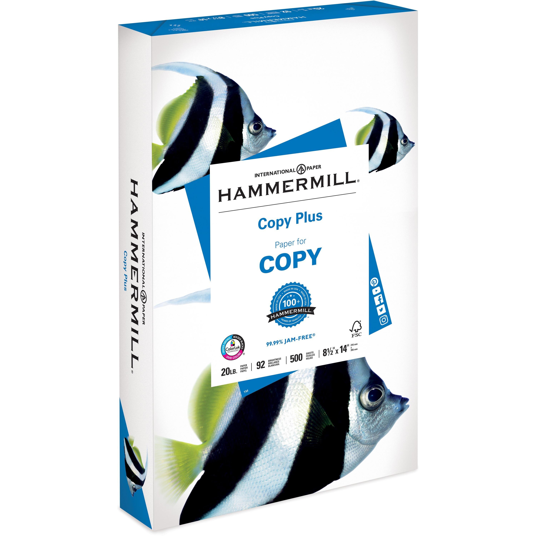 Hammermill, HAM105015, Copy Plus Paper, 500 / Ream, White