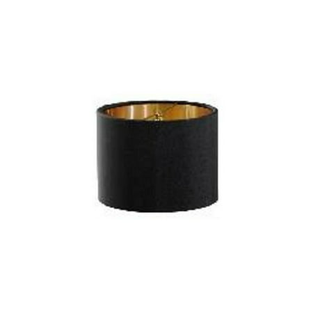 5 Inch Retro Barrel Drum Clip on Chandelier Lampshade (Black)