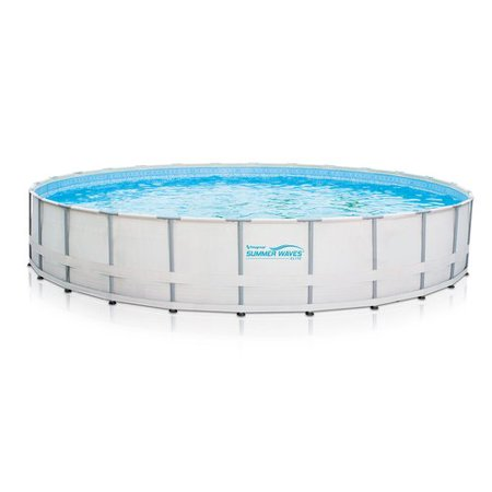 Summer waves elite 26x52 39 round premium metal frame above - Summer waves pool ...