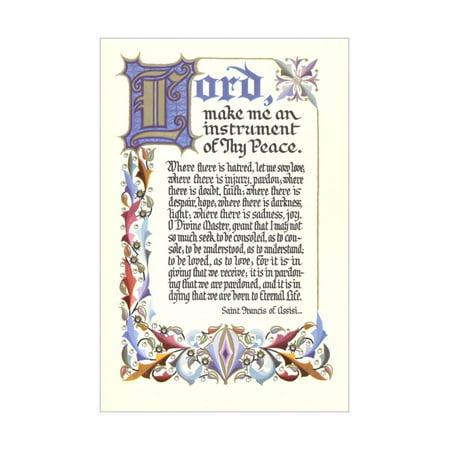Francis Art Panel (St. Francis Prayer Print Wall Art)