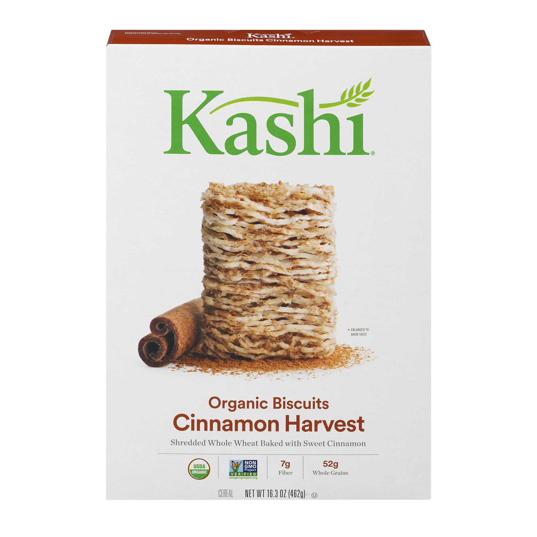 Kashi Organic Biscuits Breakfast Cereal, Cinnamon Harvest, 16.3 Oz
