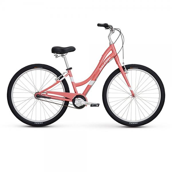 "raleigh bikes women's circa 3 step thru comfort bike, 13""/x-small, pink"