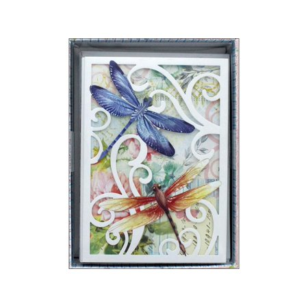 Punch Studio Boxed Cards Die Cut Dragonfly