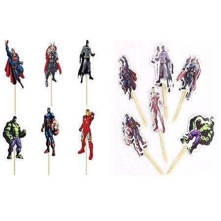 24 pcs The Avengers and Justice League 2.3