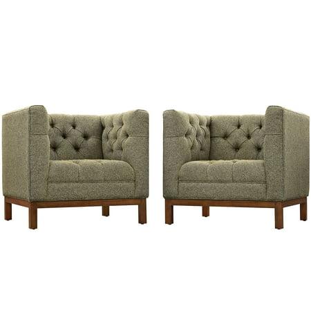 Modern Contemporary Urban Design Living Lounge Room Sofa Set ( Set of Two), Grey Gray, Fabric