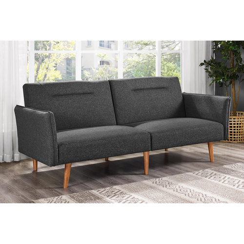 DHP Brent Futon with Med-Century Design, Multiple Colors by Dorel Home Products