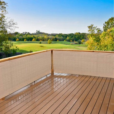 Banha Beige Elegant Privacy Screen For Backyard Deck, Patio, Balcony, Fence, Pool, Porch, Railing. 3