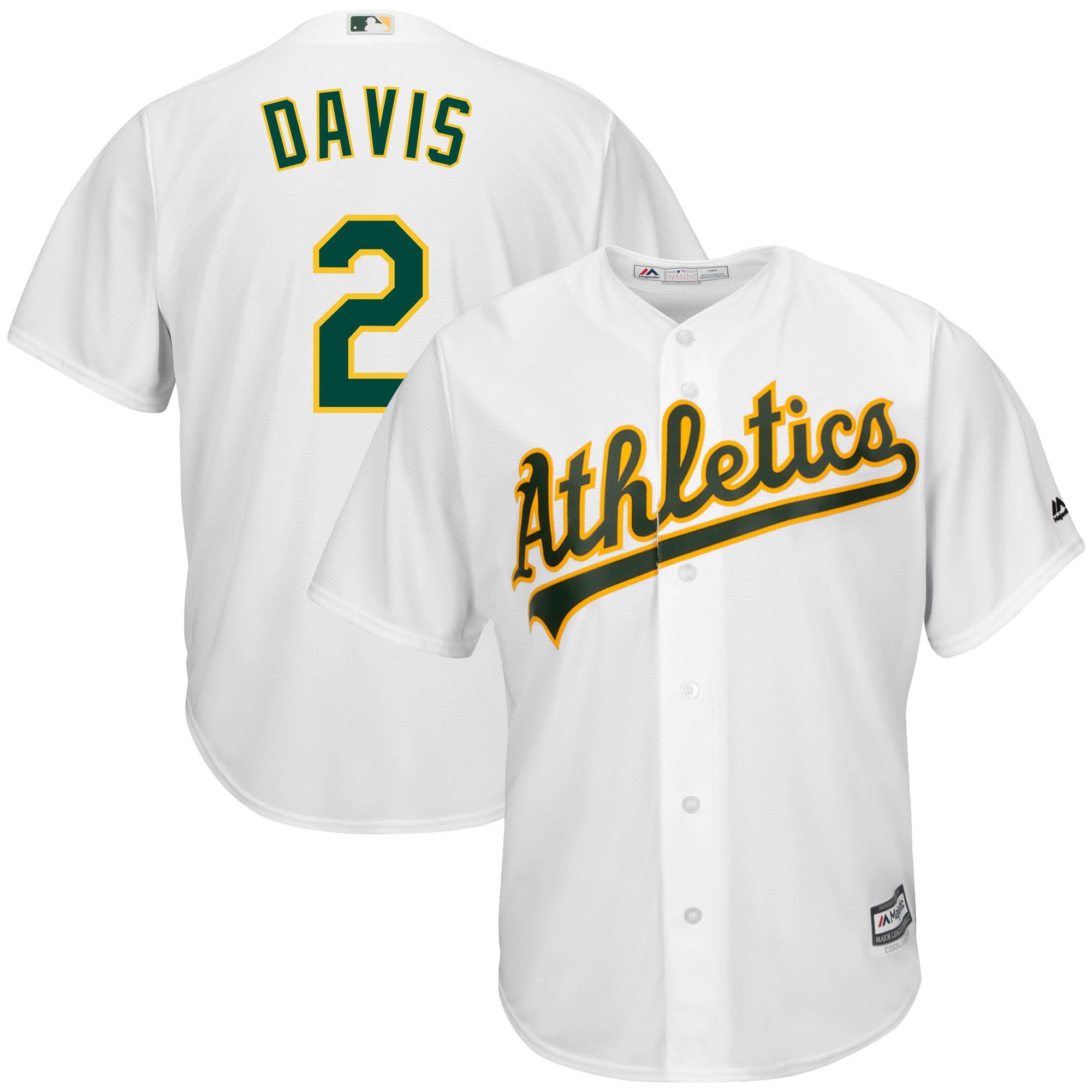 Majestic Oakland Athletics Home White Cool Base Toddler Jerseys