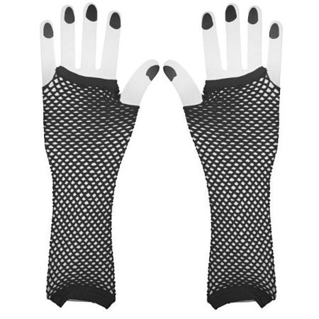 Black Net Girls Diva Gloves, Retro 80's Fashion By (80's Fashion For Kids)