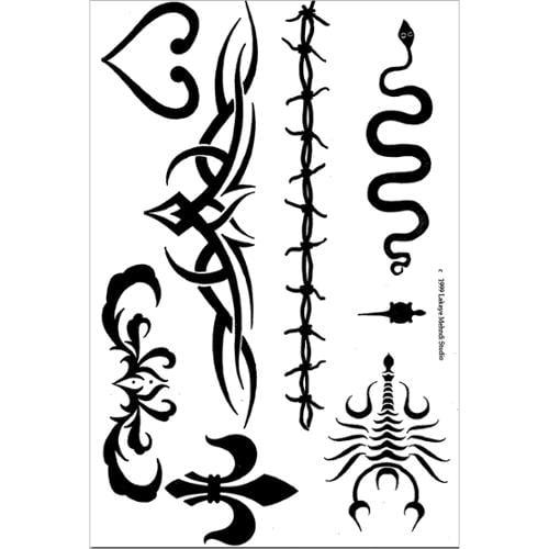 Earth Henna Earth Jagua Stencil Transfer Pack-Tribal