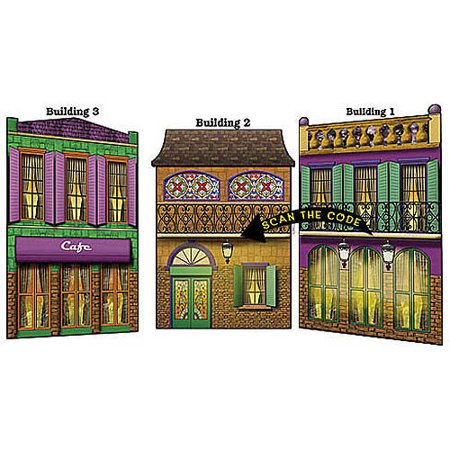 Rendezvous on Bourbon Street Buildings, Set of 3