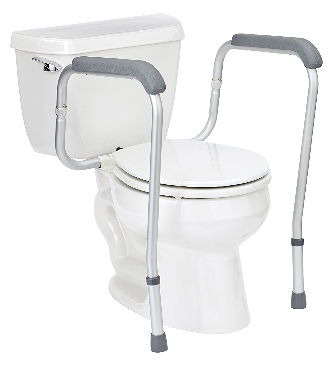 Medline Adjustable Toilet Safety Rails - Walmart.com on grab bars for bathroom, toilets for bathroom, mobility aids for bathroom, furniture for bathroom, hardware for bathroom, ladder for bathroom, shelving for bathroom, windows for bathroom, mirrors for bathroom, standing shelves for bathroom, safety rails home, wheelchairs for bathroom, doors for bathroom, commodes for bathroom, handrails for bathroom, signs for bathroom, lighting for bathroom, carts for bathroom, towel bars for bathroom, flooring for bathroom,