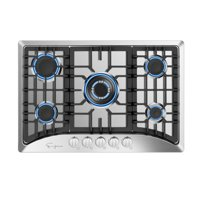 """Empava 30"""" 5 Burners Gas Stove Cooktop in Stainless, EMPV-30GC5B70C"""