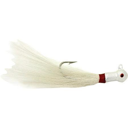 Sea Striker 1/2-oz Popeye Bucktail Jigs, 2pk, White
