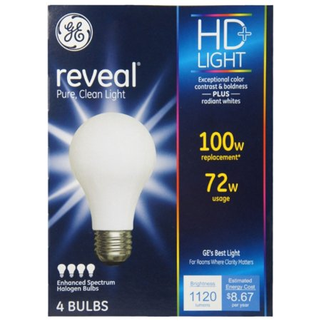 3 Pack - GE Lighting Reveal 72-Watt Light Bulb 4 ea ()