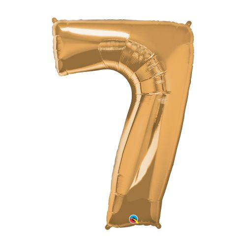 "Way to Celebrate 42"" Number 7 Gold Foil Balloon"