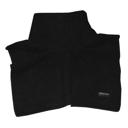Redline Leather Unisex Neck & Chest Warmer Gaiter, Soft Black Fleece 9001