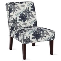 Dorel Living Teagan Floral Armless Accent Chair in Living Room and Bedroom