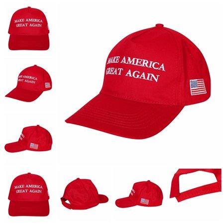 fd6153ccd51 US Buy Donald Trump Hats Caps Adjustable snapback hats- MAKE AMERICA GREAT  AGAIN - (Red) - Walmart.com