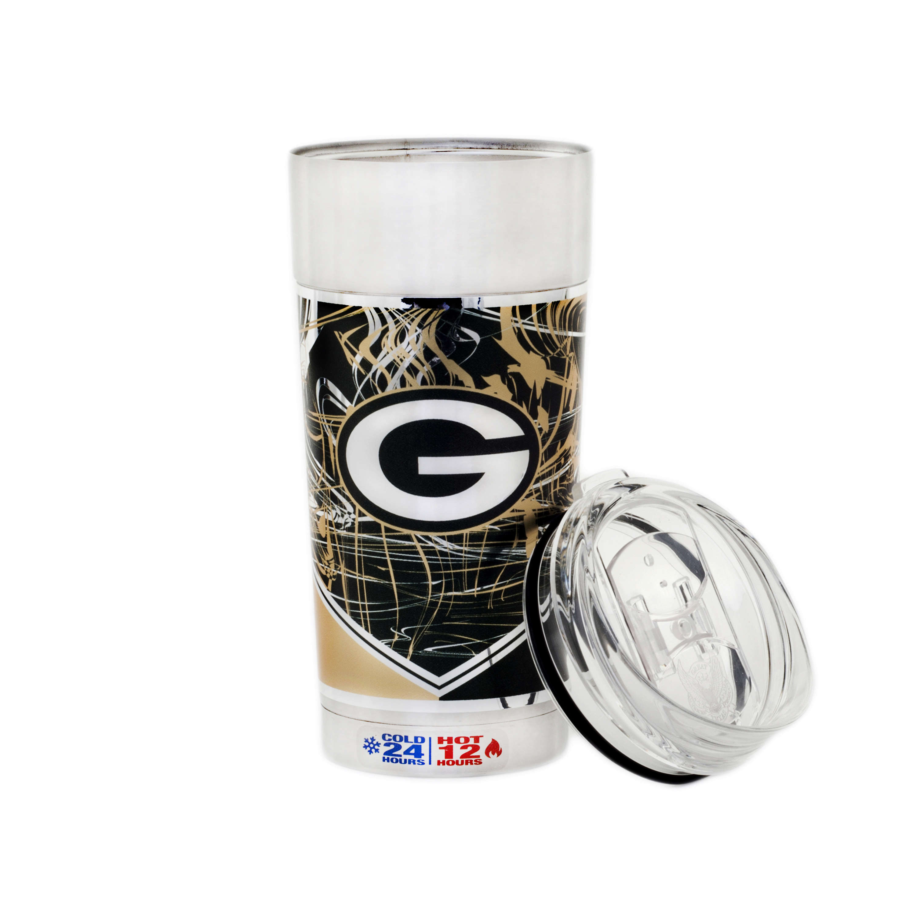 """NFL Green Bay Packers """"The EAGLE"""" 24 oz Vacuum Insulated Stainless Steel Party Cup"""
