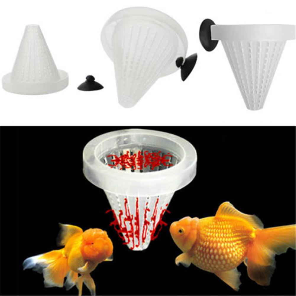 Hicoup 5pcs Set Aquarium Fish Tank Feeder Food Blood Worm Cone