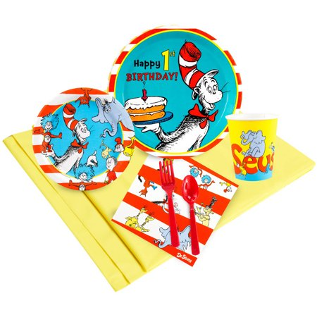 Dr. Seuss 1st Birthday 48-Guest Party Pack (Dr Seuss Party Supplies 1st Birthday)