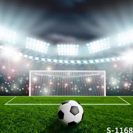 Football Field Background (HelloDecor Polyster 5x7ft Soccer Football Green Field Pitch Photography Studio Backdrop)
