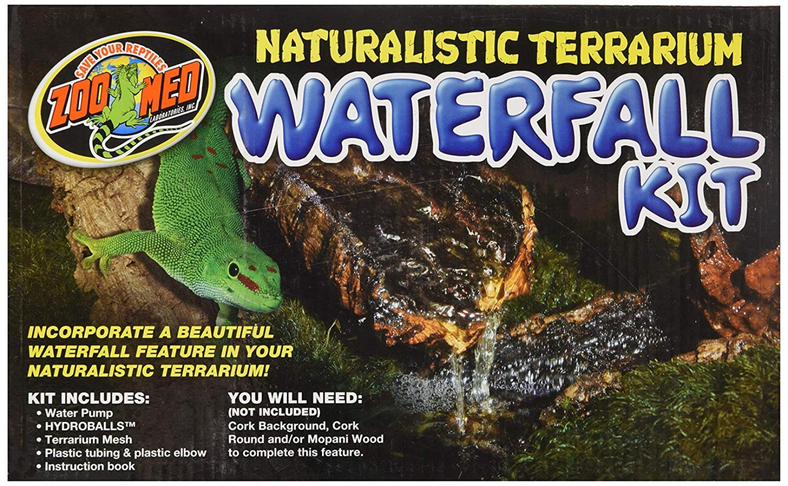 Naturalistic Terrarium Waterfall Kit, Incorporate a beautiful waterfall feature in your naturalistic... by
