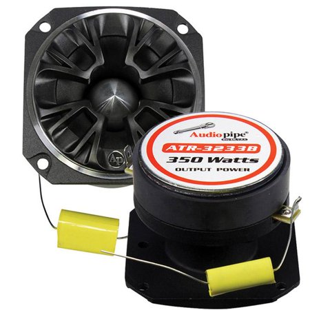 4 Ohm Crossover - Audiopipe ATR3233B Bullet Tweeter 350 Watts 4 Ohm Black With Grill
