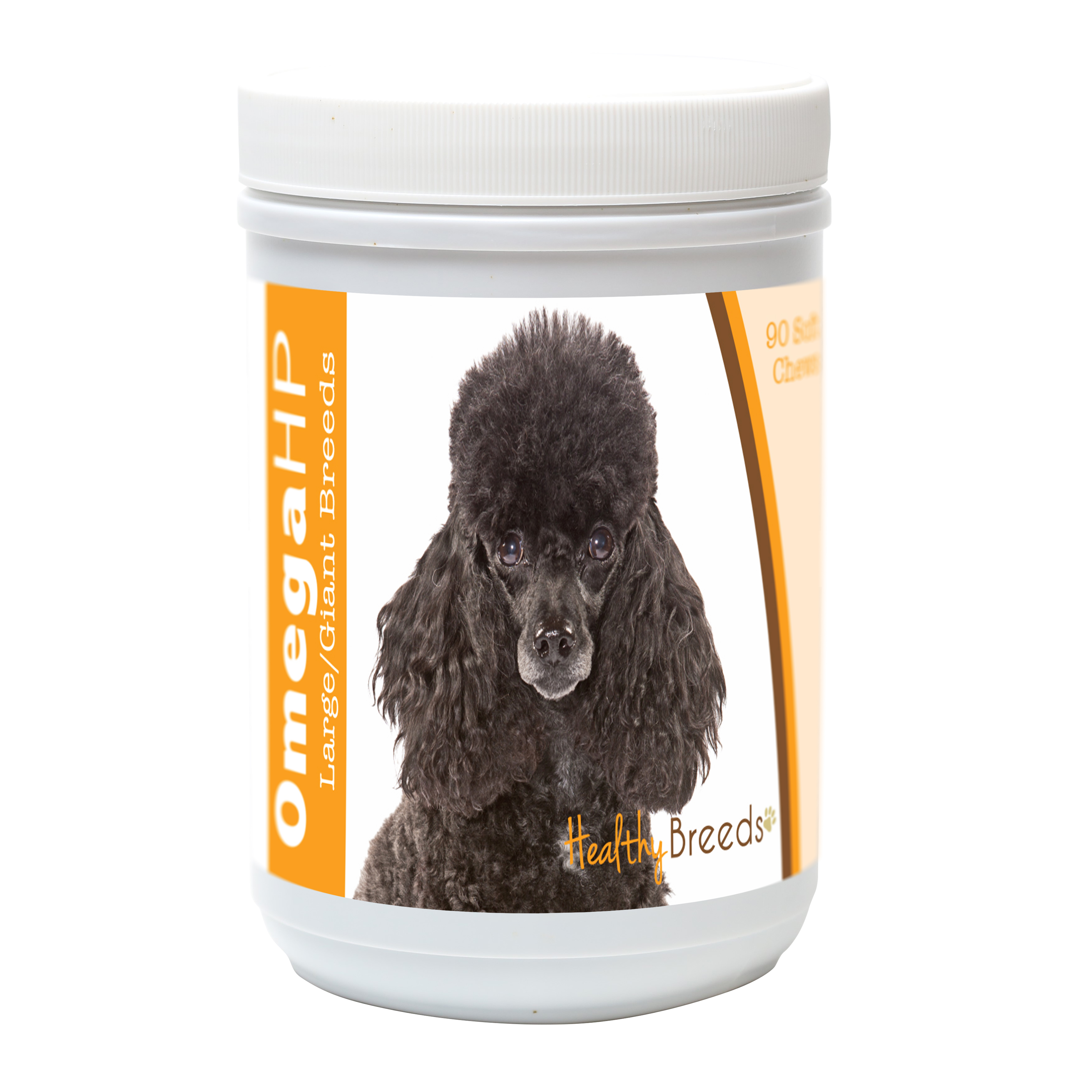 Healthy Breeds Poodle Omega HP Fatty Acid Skin and Coat Support Soft Chews