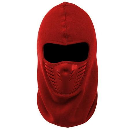 New Balaclava Windproof Ski Mask Outdoor Sports Headwear Winter Fleece Full Face Motorcycle Mask - Red
