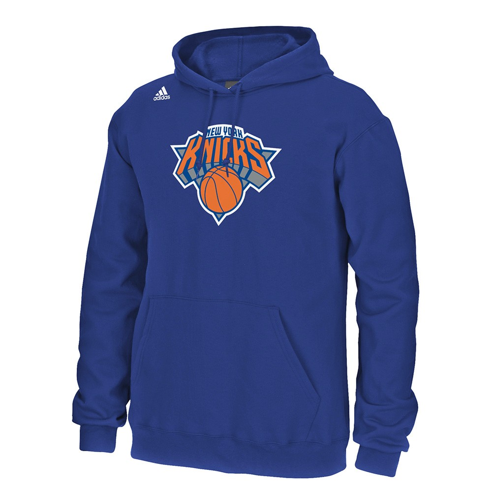 Carmelo Anthony New York Knicks NBA Adidas Blue Player Name & Numer Fleece Hoodie For Men by Adidas