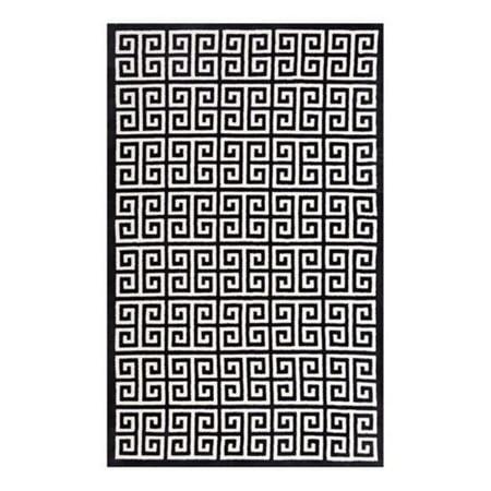 Modway Freydis Greek Key 8x10 Area Rug In Black And White