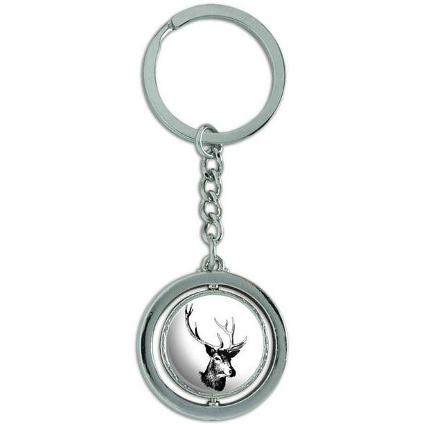 White tale deer buck  key chain