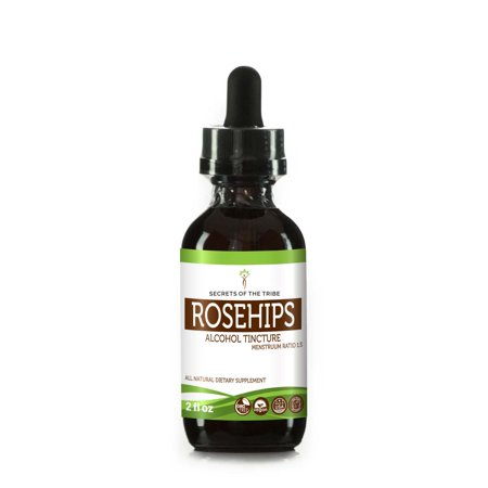 Rosehips Tincture Alcohol Extract, Organic Rosehips (Rosa spp.) Dried Fruit 2 oz Fruit Organic Alcohol
