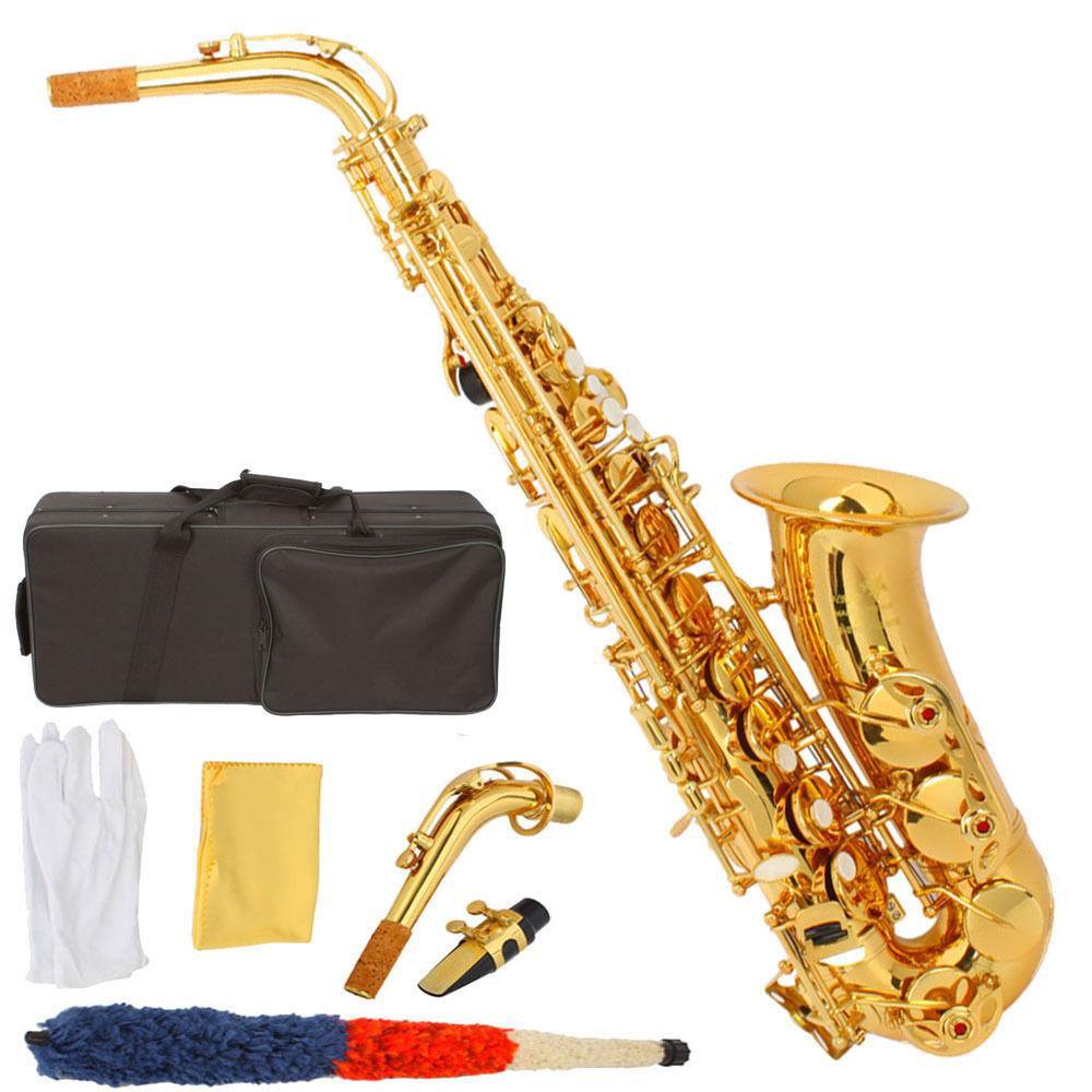 Ktaxon New HRSD Alto Eb Saxophone Sax Gold Hand Engraved Bell Decoration High Quality