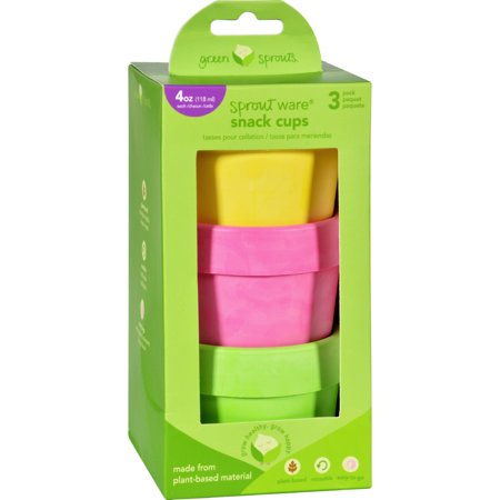 Green Sprouts Snack Cups - Sprout Ware - 6 Months Plus - Pink Assorted - 3 Pack