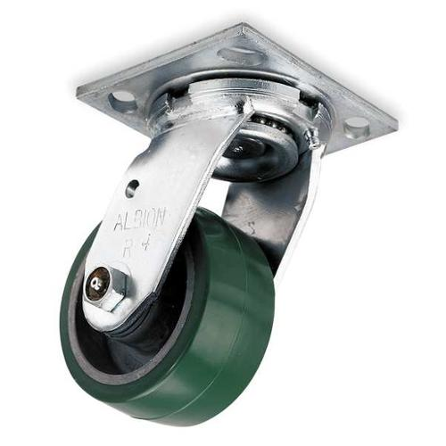 ALBION 16PD06201SG Swivel Plate Caster, 1230 lb, 6 In Dia