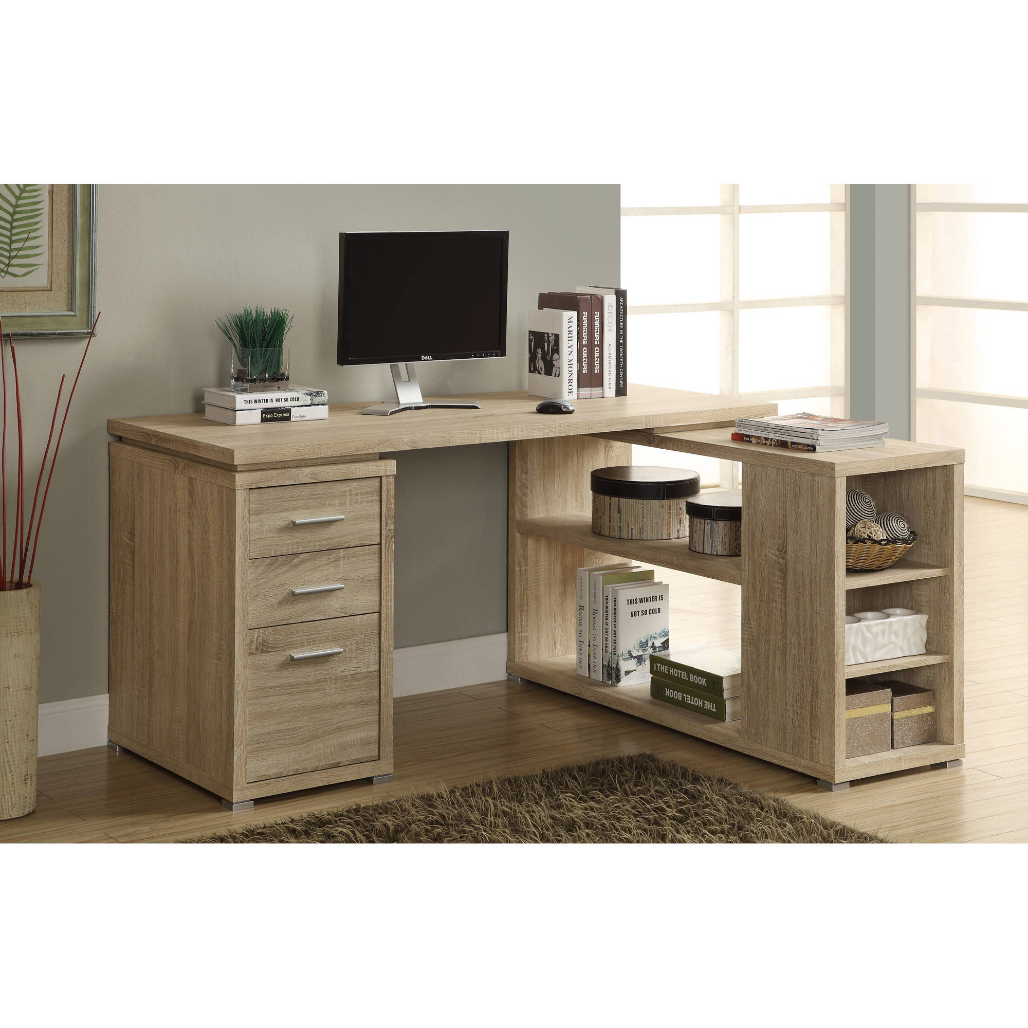 monarch shaped home office desk. monarch hollowcore left or right facing corner desk white walmartcom shaped home office