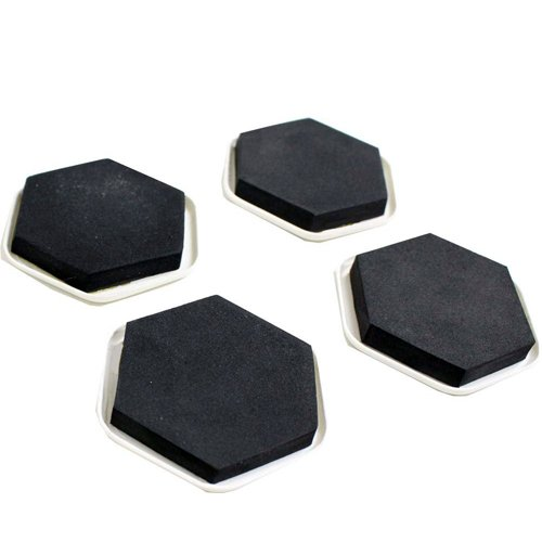 Wideskall® 4 Pieces Reusable Furniture Slider Pads Magic Movers Floor Protector for Wood Carpet Floor