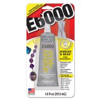 Eclectic E6000 Jewelry and Bead Adhesive, Clear 1 fL oz.