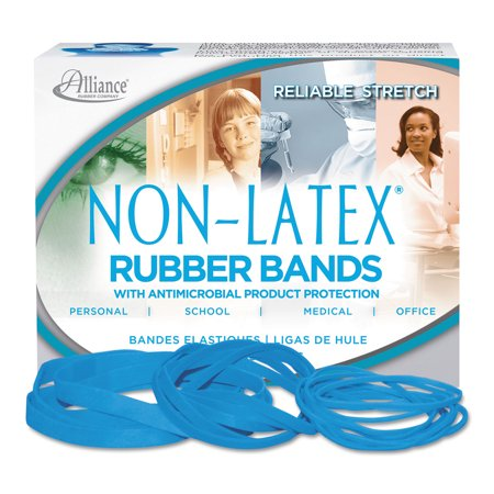 Antimicrobial Non-Latex Rubber Bands, Size 117B, 0.06