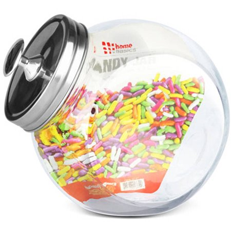 Home Basics Glass Candy Jar - Candy Jars Cheap