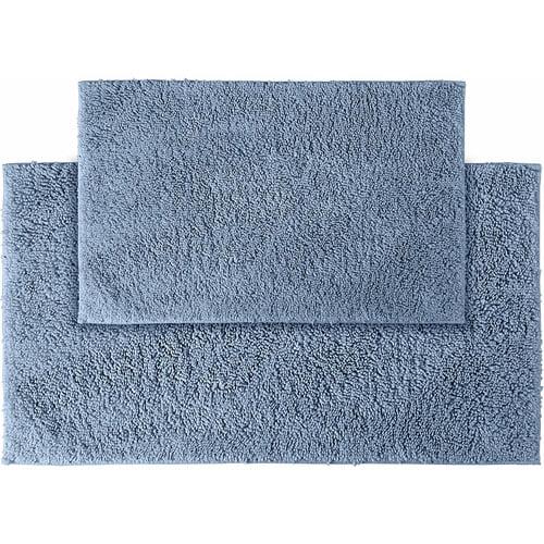 Queen Cotton 2-Piece Washable Bath Rug Set