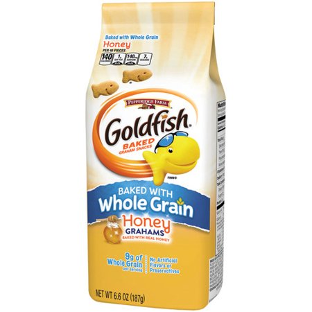 - Pepperidge Farm Goldfish Baked with Whole Grain Grahams Honey Graham Crackers, 6.6 oz. Bag