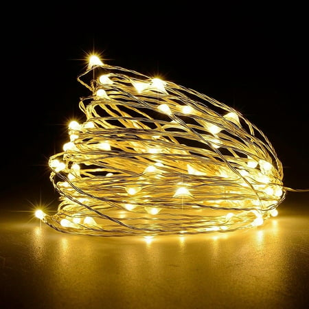 Unido Box 4 Pack String Fairy Lights 20 LED, Warm White, 7'ft/2m Battery Waterproof ()