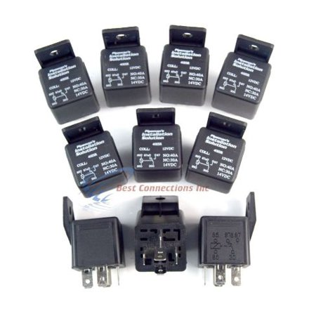10 Pack Audiopipe 12 VOLT DC 40 AMP SPDT Sealed Relay 5 Pin with mounting (40 Best Dishes In Dc)