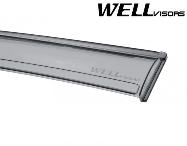Wellvisors For Lexus GX470 2003-2009 Black TrimSide Window Vent Visor Rain Guard