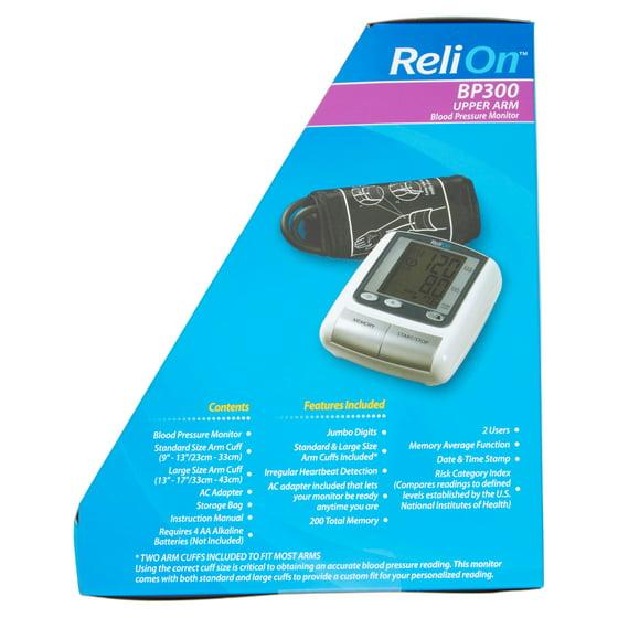 Relion Bp300 Upper Arm Blood Pressure Monitor Walmart